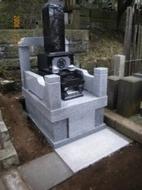 2007年12月~翌年1月 寺院墓地にて 全面新規工事