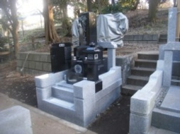 2010年1月~2月 寺院墓地にて全面新規工事