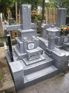 2008年4月~5月 寺院墓地にて 全面新規工事