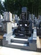 2007年9月~10月 寺院墓地にて 全面新規工事
