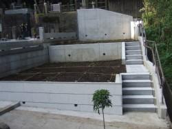 墓地の造成工事