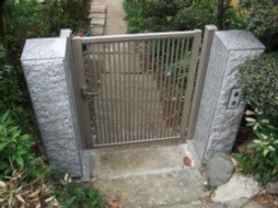 2006年3月 住宅にて 門柱工事