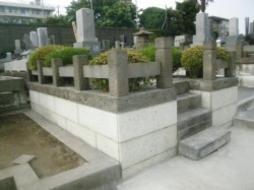 2008年4月~5月 公営墓地にて 石張り工事